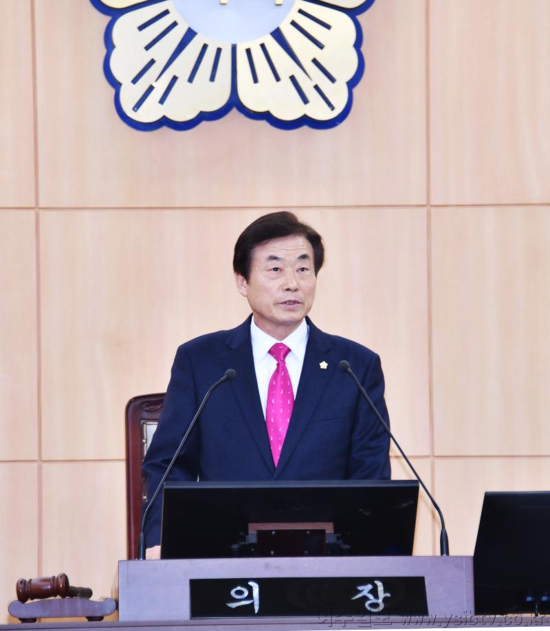 여수시의회 서 의장, 개회사에서 권오봉 시장 강하게 비판