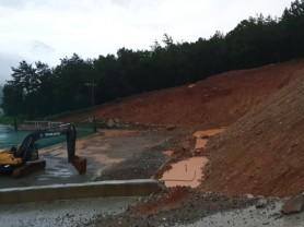 여서동 한재 풋살경기장쪽 건설현장